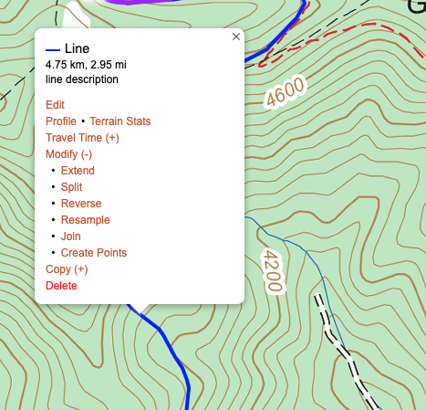 Route Points for Lines
