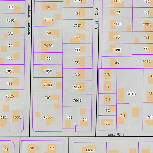 Parcel Data by Address and Structures Overlay on MapBuilder Topo